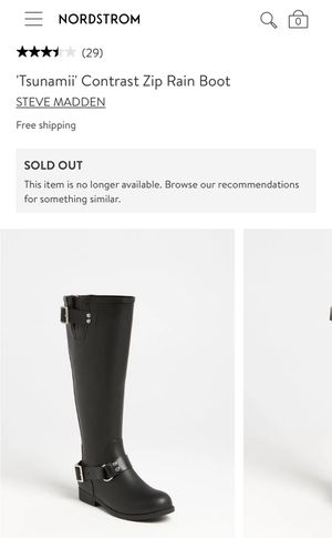 Steven Madden size 7 Rain Boots for Sale in MONTGOMRY VLG, MD