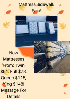 Mattress Sidewalk Sale! for Sale in Lynchburg, VA