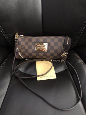 Louis Vuitton Damier Ebene Eva crossbody Bag Purse Handbag for Sale in Hinsdale, IL