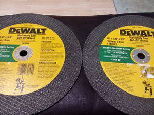 We ship only. Dewalt stationary cut off wheel for Sale in Indianapolis, IN