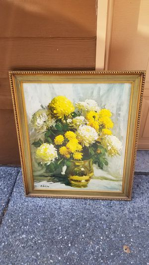 Mid-century modern vintage painting by R.Colao .1927 year, for Sale in Everett, WA