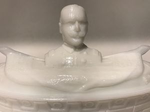 Admiral Dewey Commemorative milk glass candy dish for Sale in Glendale, AZ