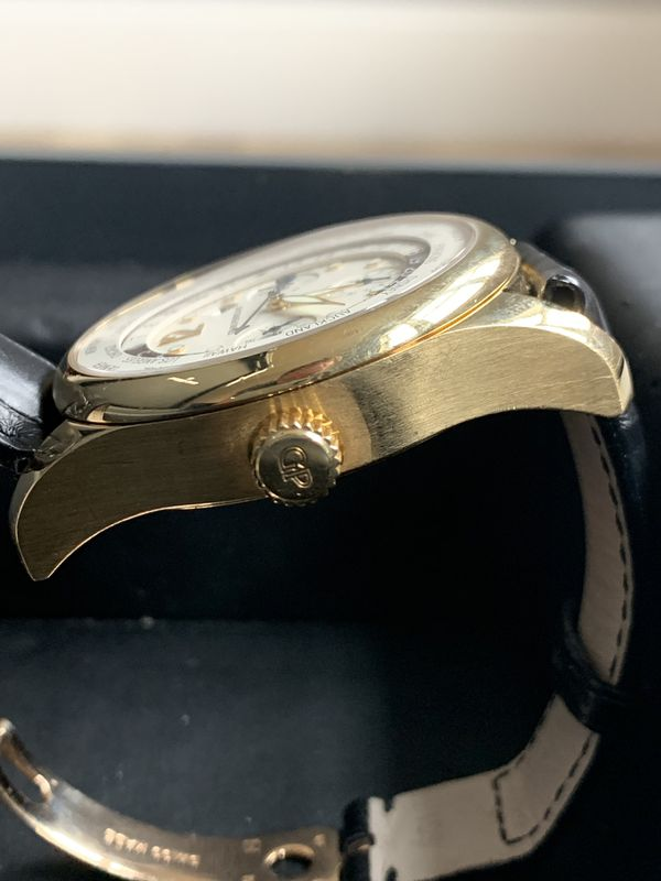 Girard Perregaux World Time Chronograph in 18K Gold, 43MM, Box & Papers
