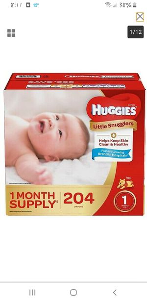 Huggies diapers size 1 (204 count) for Sale in Midlothian, IL