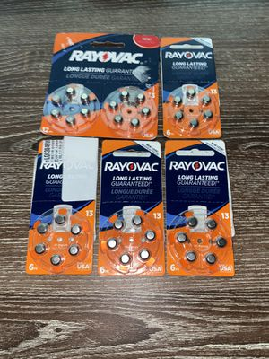 6 packs of 13 size batteries for Sale in Normal, IL