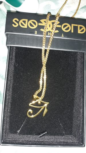 Eye of Ra gold plated chain for Sale in Yuma, AZ