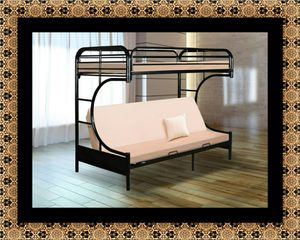 Twin futon bunk bed frame for Sale in University Park, MD