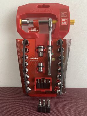 New Husky 1/4 in. Drive 6-Point Pass Thru Ratchet and Socket Set for Sale in Walkertown, NC