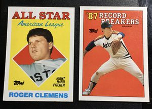 Rare Baseball Cards - Roger Clemens Rookie & Nolan Ryan for Sale in Spring, TX