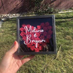 Valentines Day Paper Rose Shadow Box Gift for Sale in Manteca, CA