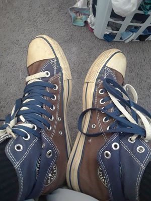 Blue and brown converse, classic double lace 8&1/2 for Sale in Baltimore, MD