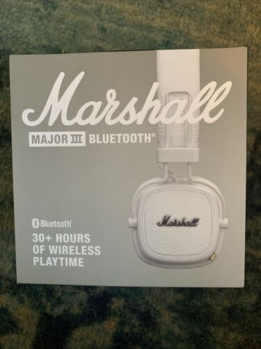 New Marshall Major III Bluetooth Headphones - White