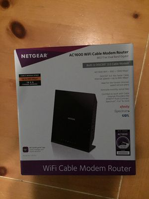 Netgear Wi-Fi Cable Modem Router for Sale in Bristow, VA