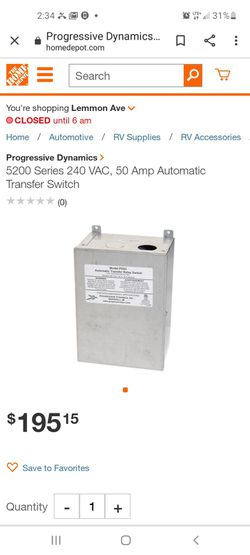 Automatic transfer relay switch pd52 for Sale in Temple,  TX