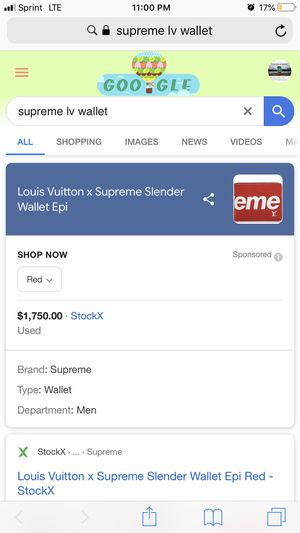 Louis Vuitton x Supreme Slender Wallet Epi for Sale in Portland, OR
