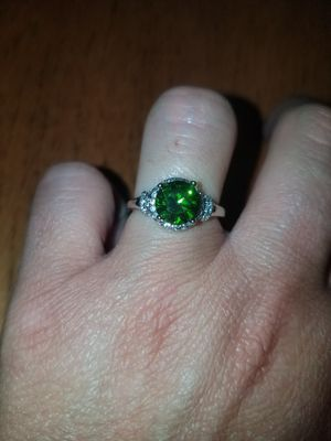Sterling silver Peridot Illinois sapphire ring size 7 for Sale in Dundalk, MD