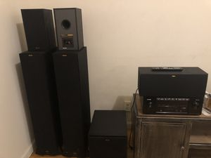 Like New Klipsch 5.1 Surround Sound Speaker System, Denon 7.2 Channel 4k Receiver for Sale in The Bronx, NY