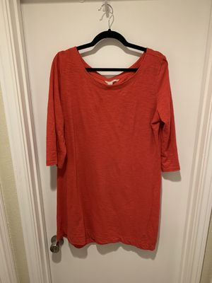 Banana Republic Red Slub Cotton Dress size XL for Sale in Carrollton, TX