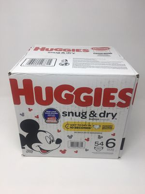 Huggies Snug And Dry Diapers Size 6 54 Count New Sealed for Sale in Cumming, GA