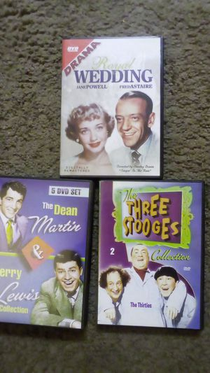 DVDs The Dean Martin & Jerry Lewis, The three stooges, Royal wedding for Sale in Port Orchard, WA