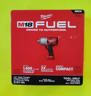 """Milwaukee M18 FUEL 1/2"""" High Torque Impact Wrench w/Friction Ring 2767-20 TOOL-ONLY for Sale in Plainfield, IL"""