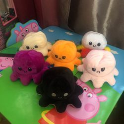 Reversible Plush Octopus Stuffed Toy/ Among Us Plushys for Sale in Los Angeles,  CA