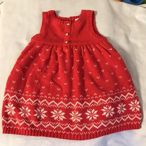 Carter's 9 mo Red Sweater Dress for Sale in Belzoni, MS