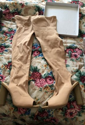 Nude Knee High Boots Size 8 for Sale in Azalea Park, FL