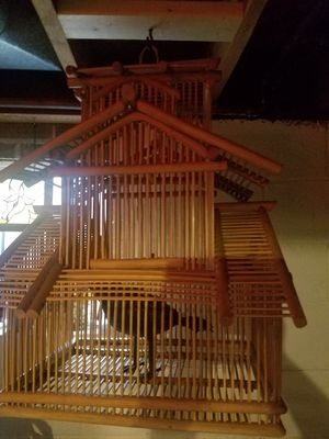 Antique Asian Bird Cage 20th century for Sale in Olney, MD