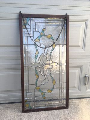 Antique Stained and Lead Glass Panel for Sale in Santa Ana, CA