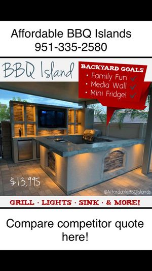 Outdoor kitchens barbecue islands patio covers gazebo pool contractor furniture barbeque bar for Sale in Riverside, CA