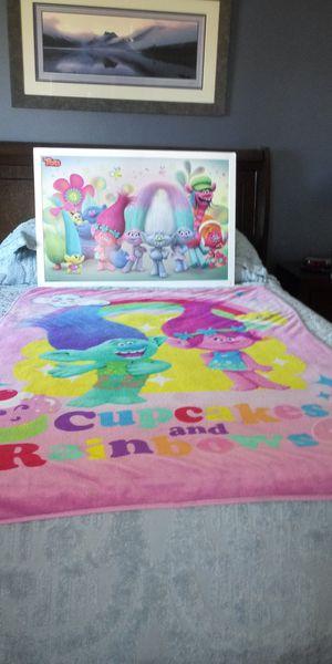 Troll Blanket $8 / Mounted Troll Poster $5 for Sale in Phoenix, AZ