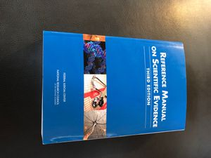 Reference Manual on Scientific Evidence Third Edition for Sale in Boston, MA