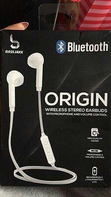Bass Jaxx White Bluetooth Stereo Earbuds for Sale in Saint Joseph, MO