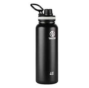 Takeya Originals Vacuum-Insulated Stainless-Steel Water Bottle, 40oz, Black for Sale in Upland, CA