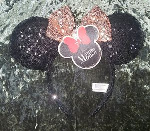 Disney Minnie Mouse Ears Rose Gold Bow for Sale in Tampa, FL
