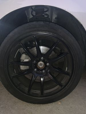 18 inch black rims (5x114.3) for Sale in Riverside, CA