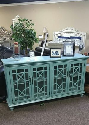 🏷Best OFFER. Mirimyn Antique Teal Accent Cabinet IN STOCK SAME DAY DELIVERY ON DISPLAY for Sale in Jessup, MD
