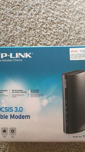 TP-Link cable modem, DOCSIS 3.0, capitible with all major network providers. In good condition. for Sale in Costa Mesa, CA