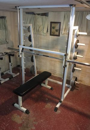 York USA Free Weight Bars and York USA Smith Machine (ORIGINALLY $3,100) for Sale in Cleveland Heights, OH