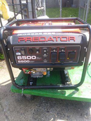 Predator Portable Generator 6500 Peak/5500 Running Watts for Sale in City of Orange, NJ