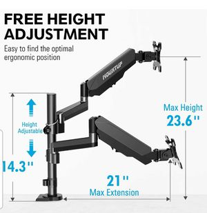Mountup dual monitor desk mount for Sale in Tolleson, AZ