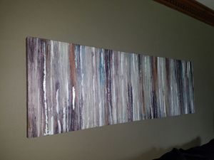 """Abstract art print on canvas 60"""" l x 20"""" h for Sale in Chesapeake, VA"""