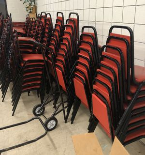 Chairs Commercial Stacking $15 ea 150 available for Sale in Buffalo, NY