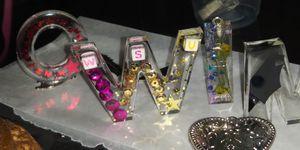 Epoxy letterKey chains,necklaces, earrings for Sale in Wichita, KS