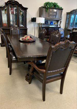 🍻39 DOWN🍻Brand New 7-Piece Brown Formal Dining Set.[ Table & 6 Side Chairs ] for Sale in Houston, TX
