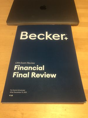 Becker CPA Exam Financial Final Review V 3.5 for Sale in San Jose, CA