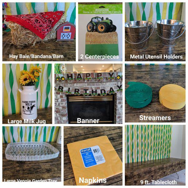 Tractor, John Deere, Farm, Barnyard Birthday Party Decorations