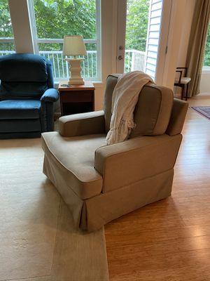 Tan swivel accent chair for Sale in Renton, WA
