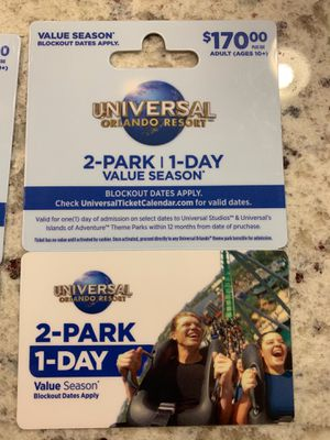 Universal tickets for Sale in Sarasota, FL